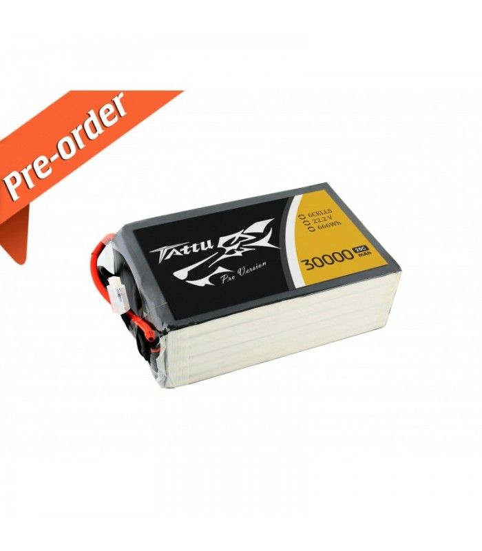 New Gens ACE Tattu 30000mAh 22.2V 25C 6S1P Lipo Battery Pack -10% to still 15.11.2015