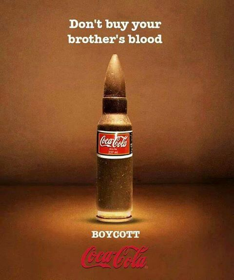 "Stop Being A Part Of This Stupid ""Share A Coke"" campaign now! Stop supporting Murderers BOYCOTT ISRAEL .. BOYCOTT ISRAEL ..."