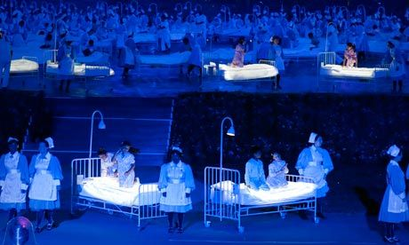 London beds into an amazing #Olympic opening ceremony #London2012