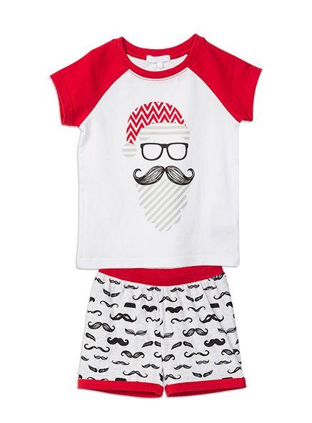 Pumpkin Patch Christmas: Santa Moustache PJ Set #PumpkinPatchWishlist