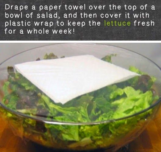 Sla hou je vers met vershoudfolie, maar ook met een stukje keukenpapier