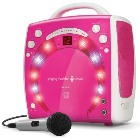 Toys Singing Machine Mini Karaoke Lightshow With Microphone Pink - Complete Karaoke Systems