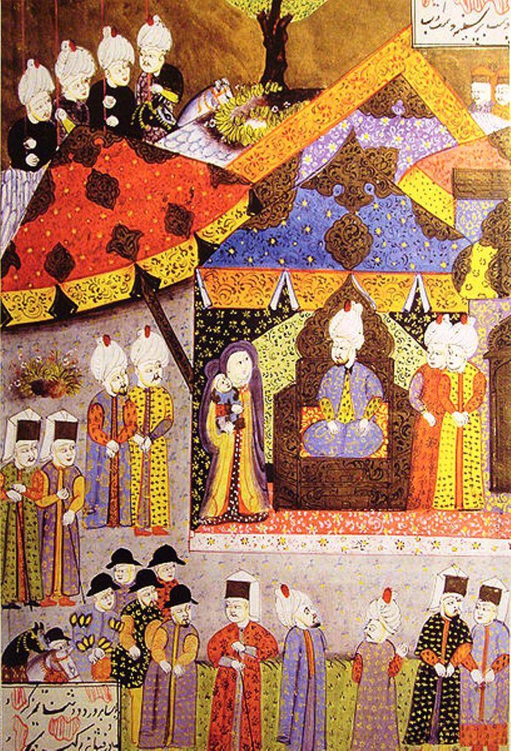 Osmanlı Tarihi: 1541 Budin Seferi'nde I. Süleyman, Izabela Jagiellonka ve oğlu Sigismund Zapolya'yı kabul ederken