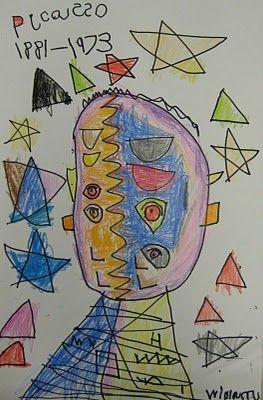 Picasso Portraits - Kindergarten Style! | TeachKidsArt