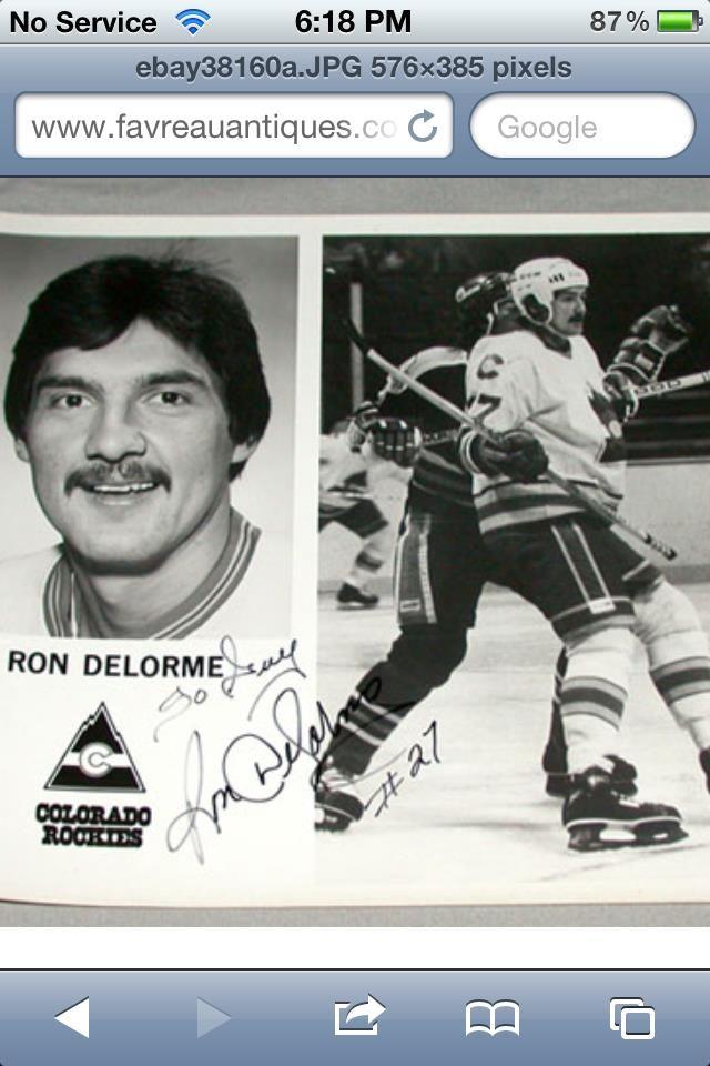 Ron Delorme autograph