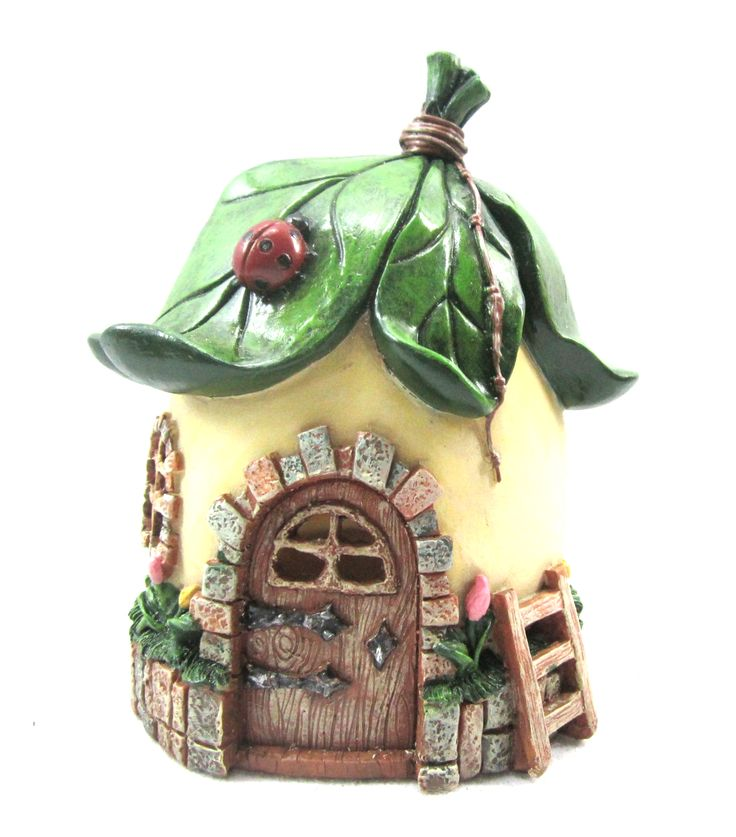 Fairy Garden Fairy House Leaf RoofFairy Garden Fairy House Leaf Roof,