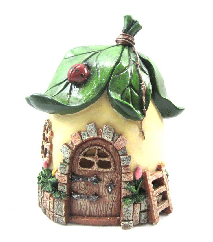 Fairy Garden Fairy House Leaf RoofFairy Garden Fairy House Leaf Roof,