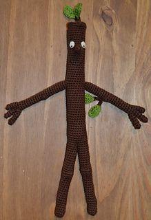 Stick Man - free crochet childrens book character pattern by Charlotte J Blakey.