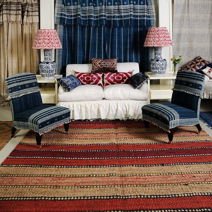 Rugs lampshades cushions furniture