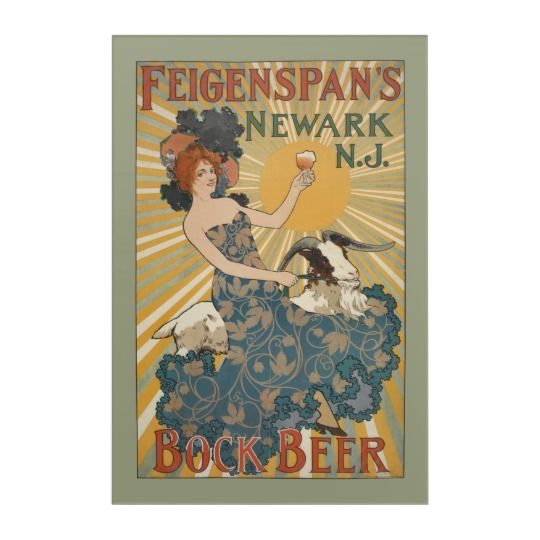 NYPL   Feigenspan's Bock Beer, Newark, NJ Acrylic Print