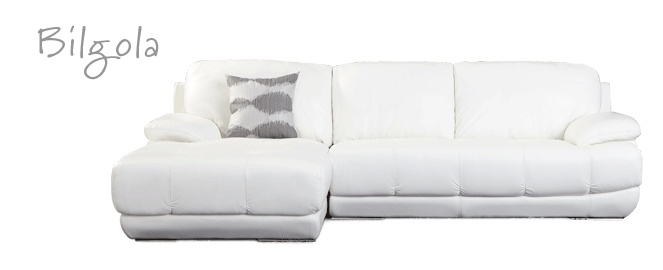 Bilgola Leather Lounge with Chaise