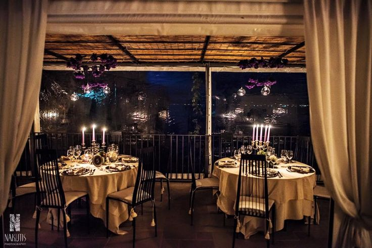 wedding table setting, wedding dinner, wedding day, wedding decors, candles, on the terrace with sea view, Cilento coast, Sposa Mediterranea, Olga studio