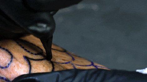 tatuagem camera lenta
