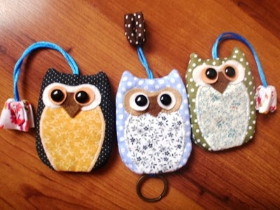 owl key ring, I used to make some house or chat or whatever, but never had the idea of making an owl one before seeing this pic ! A must do !
