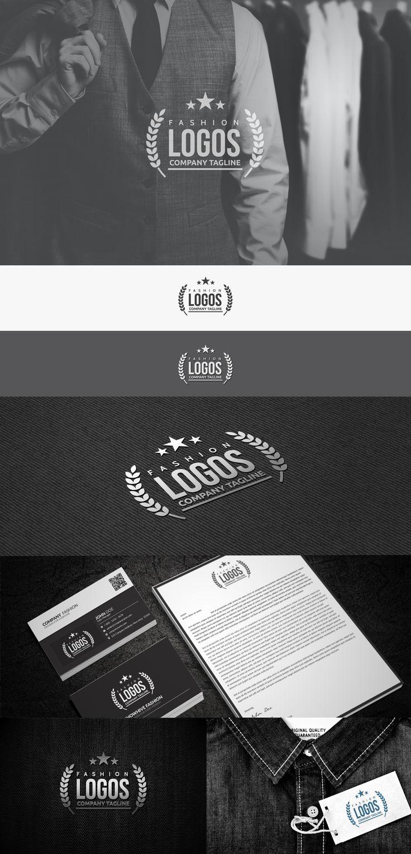 time saving fashion logo presentation template | http://www.designertale.com/time-saving-fashion-logo-presentation-template-vol-1/
