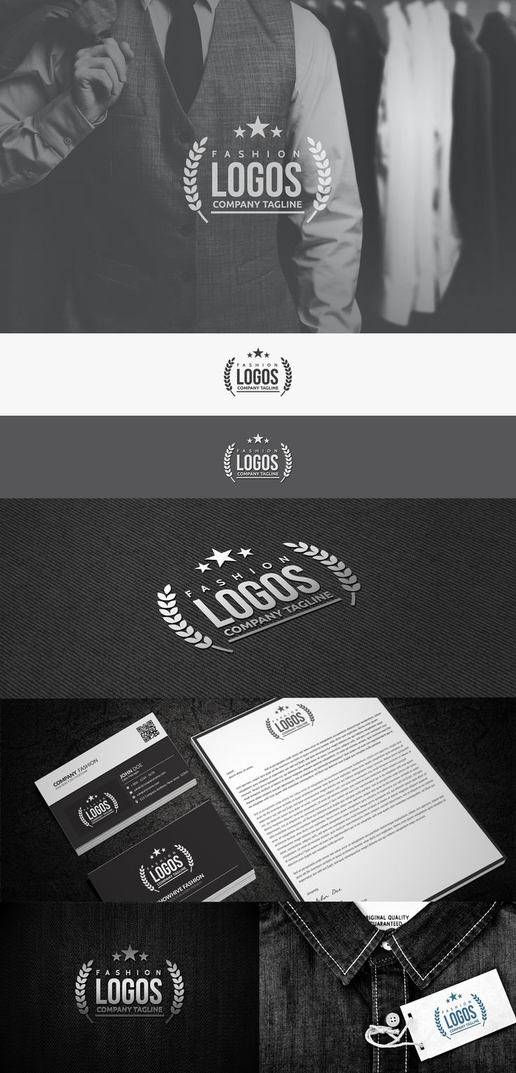 time saving fashion logo presentation template | http://www.designertale.com/time-saving-fashion-logo-presentation-template-vol-1/