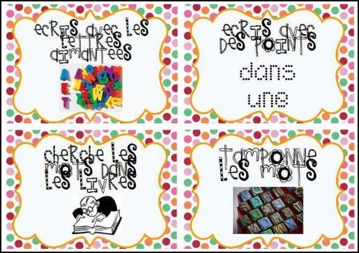 L'atelier des mots: les mots fréquents banque d'activités pour s'entraîner à écrire les mots de différentes façons