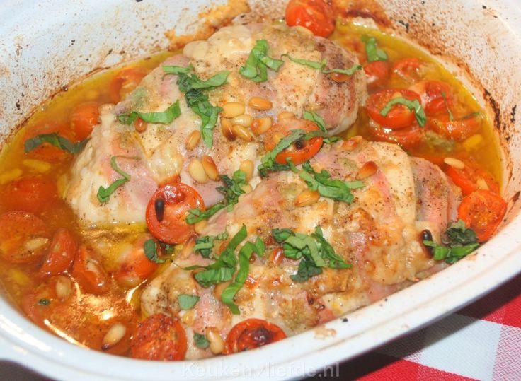 Italiaanse kipfilet uit de oven met bruschetta