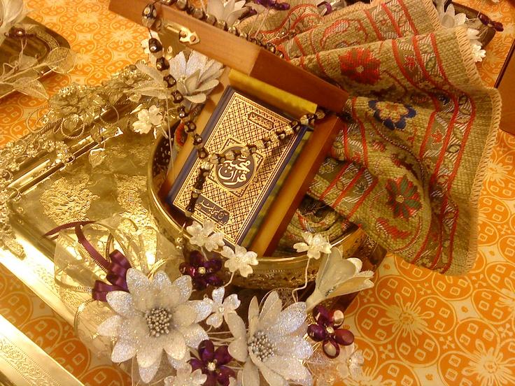 My Wedding hantaran..Quran, Prayer's Mat