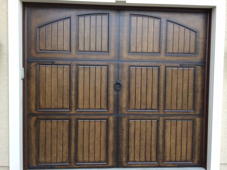 Bronze Traditional Style Decorative Garage Door Kit   This Kit Contains 4    Dark Bronze Traditional Style Dummy Hinges + 1   Large Bronze Ring Pull  Handle.
