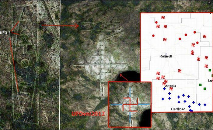 Descubren extrañas figuras cerca del área 51, en New Mexico, USA - extranotix