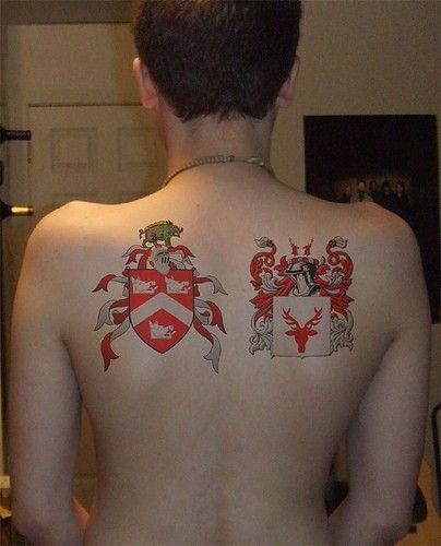 family crest tattoo two family lines tattoos pinterest family crest tattoo crest. Black Bedroom Furniture Sets. Home Design Ideas