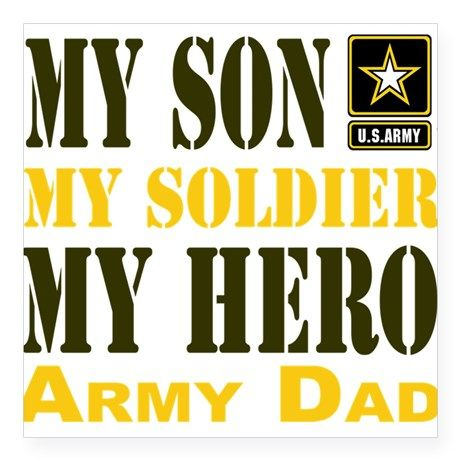 Army dad sticker