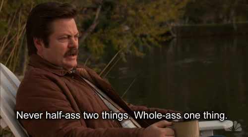 This pep talk. | 23 Times Ron Swanson Was Inarguably Right About The World