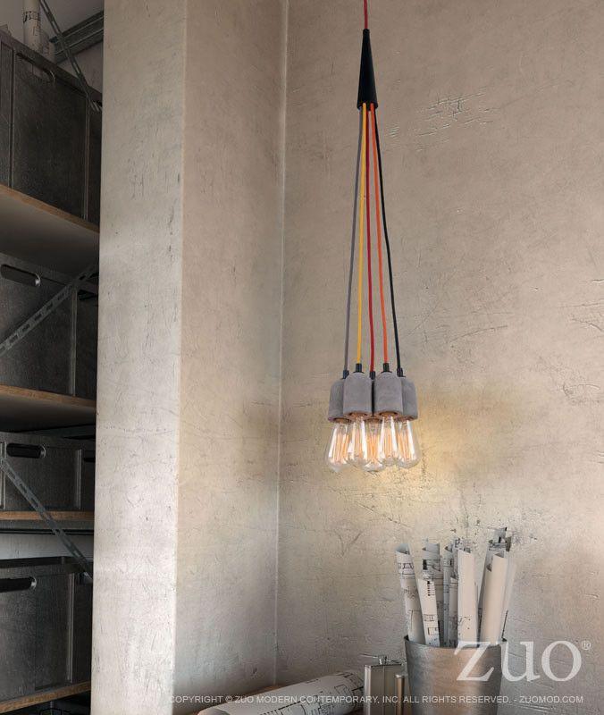 Zuo Faith Ceiling Lamp Concrete Gray