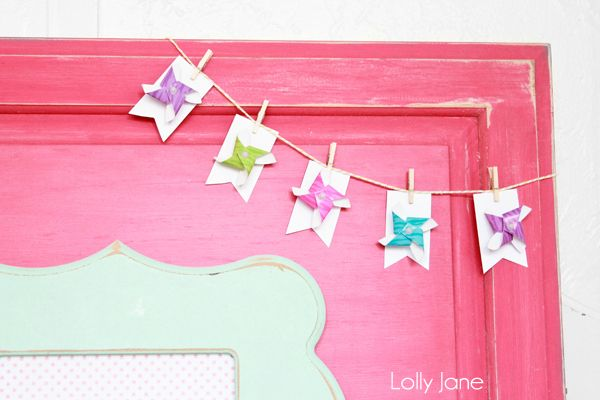 Make a Bunting ~ Pinwheel Bunting - Todays Creative Blog