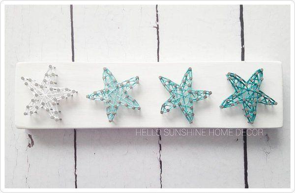 4 Little Starfish - string art