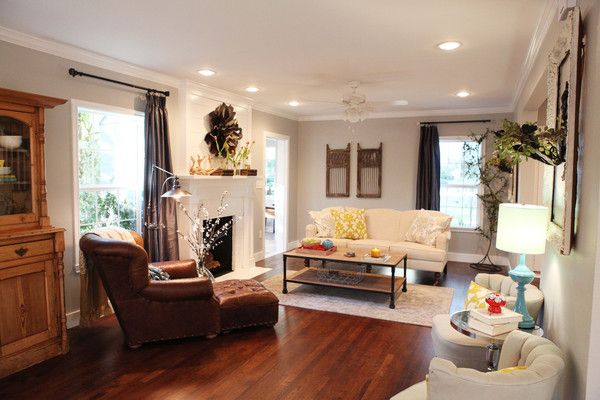 42++ Fixer upper living rooms with leather couch ideas