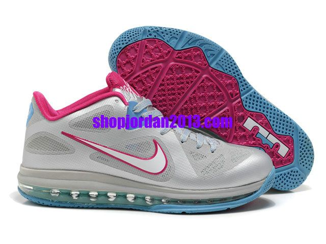 Nike Air Max LeBron 9 Low Shoes Gray/Pink Lebron James Shoes #Lebron #James #Shoes