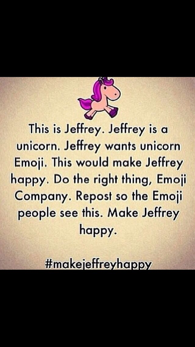 #makejeffreyhappy