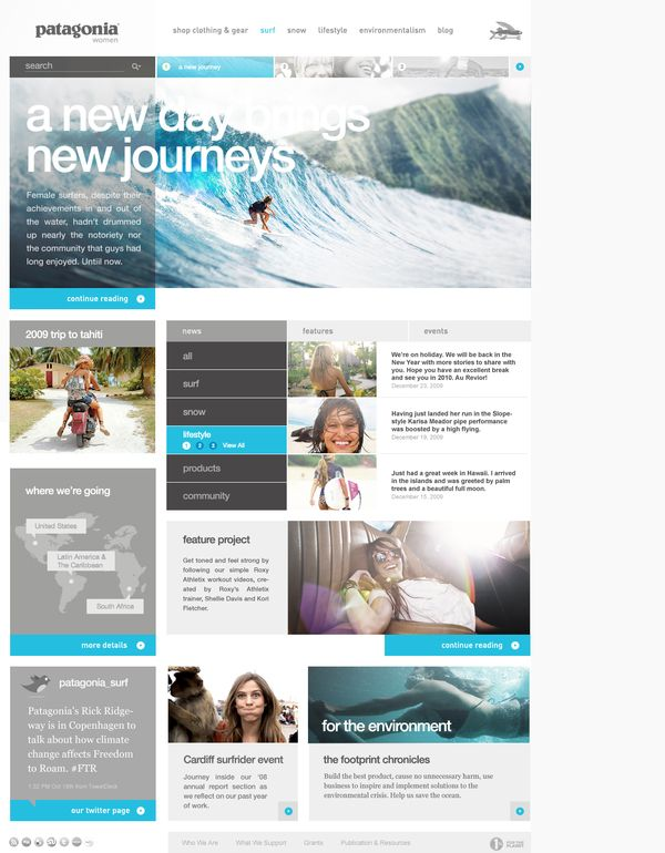Clean, white grey and blue website