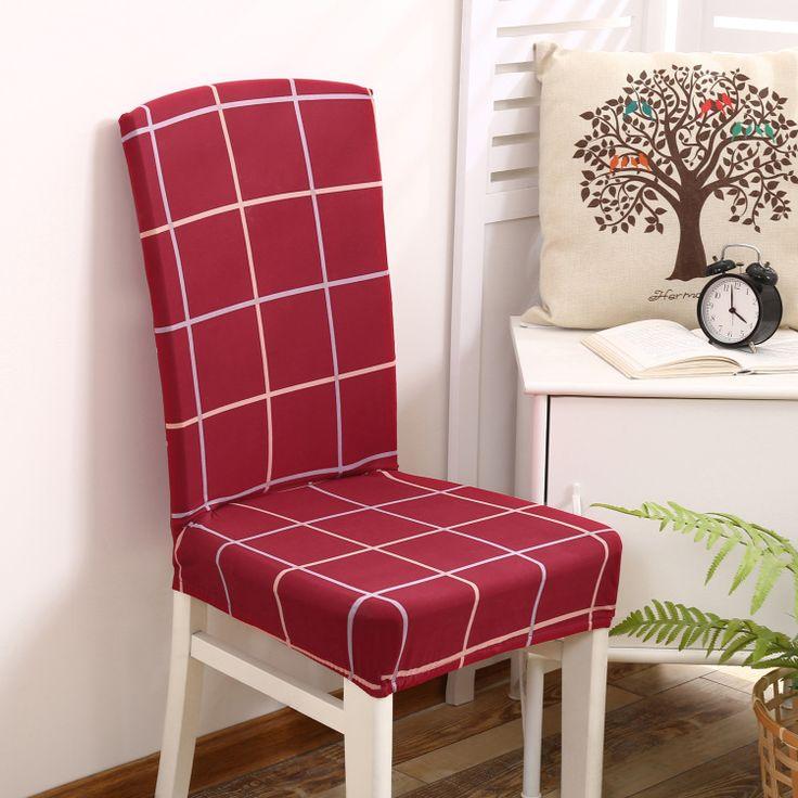 Goedkope 2 stks stoelbekleding spandex/polyester rode plaid eetkamerstoel covers kantoor hotel bruiloft stoel cover kussenovertrekken gestreepte verwijderbare, koop Kwaliteit stoel hoes rechtstreeks van Leveranciers van China:        omvatten:  2 stks Stoel Cover  stof:  Spandex/Polyester       maat:3-5 cm size fout toegestaan.  kleur:kan er wat
