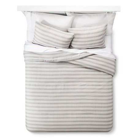 Woven Abstract Stripe Comforter Set  : Target