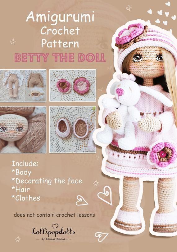 Crochet Doll Pattern Amigurumi Doll Pattern Diy Amigurumi Doll Amigurumi Tutorial Alisa Doll Stuffed Doll Pattern