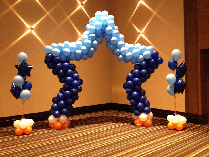 Photo back drop or stage decorations by makinmemories4u for Balloon decoration for stage
