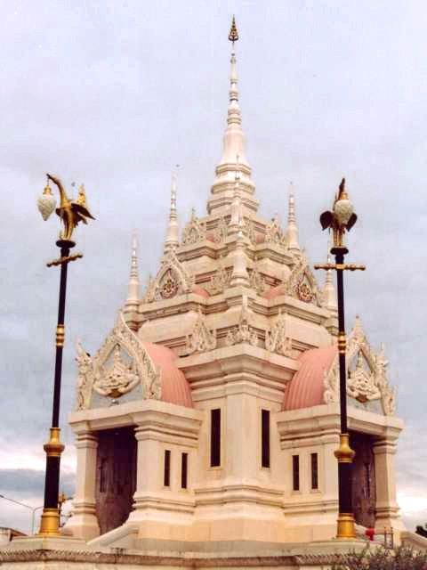 City Pillar shrine (Thai: หลักเมือง, Lak Mueang or Lak Muang) in Surat Thani, Thailand