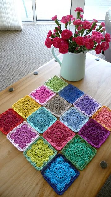 Wow. This square is amazing! Solid 'Willow' Crochet Block How-To from Annie's Place.