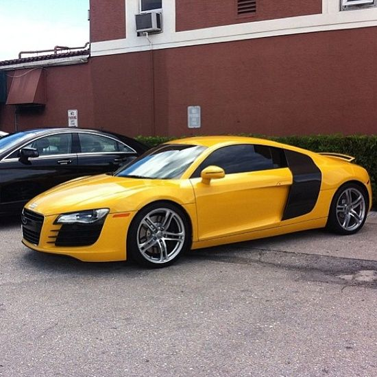 Yellow Audi Luxury Sports Cars Customized Cars Sport Cars