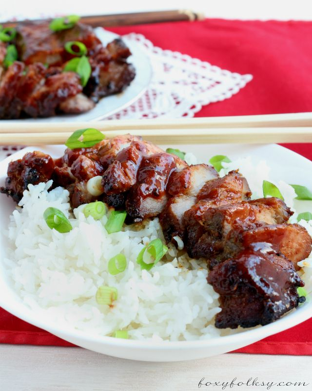 Char Siu is roasted or barbecued pork from Cantonese cuisine usually sticky, sweet and savory. Try it now..| www.foxyfolksy.com
