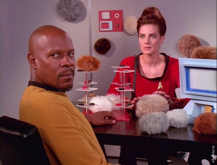"""Star Trek Deep Space Nine """"Trials and Tribbilations"""" (take off on the TOS episode """"The Trouble With Tribbles""""). Cool"""