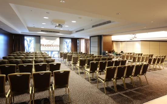 Fraser Suites Dubai: Theater style sitting for conference facilities.