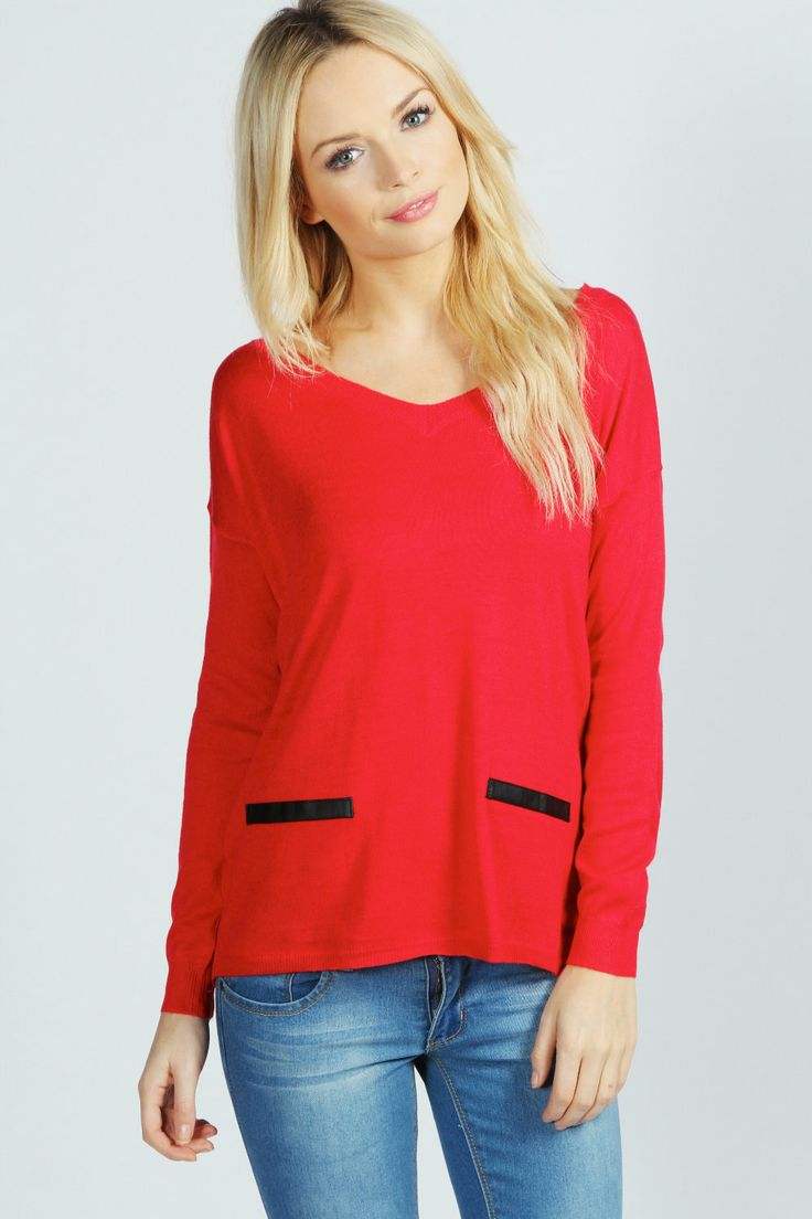 Larissa Pu Detail Jumper at boohoo.com