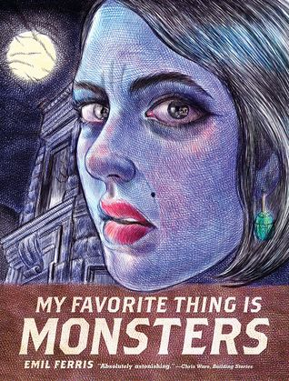 """My favorite thing is monsters: Book 1"", by Emil Ferris - Monsters is told through the fictional graphic diary of 10-year-old Karen Reyes, employing the iconography of B-movie horror imagery and pulp monster magazines. As the precocious Karen Reyes tries to solve the murder of her beautiful and enigmatic upstairs neighbour, Anka Silverberg, a holocaust survivor, we watch the interconnected and fascinating stories of those around her unfold."