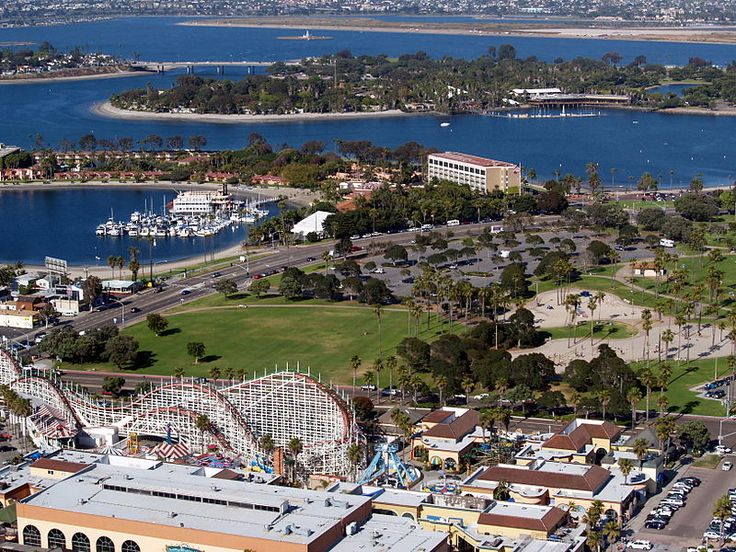 Mission Bay and Mission Bay Park in San Diego, CA.