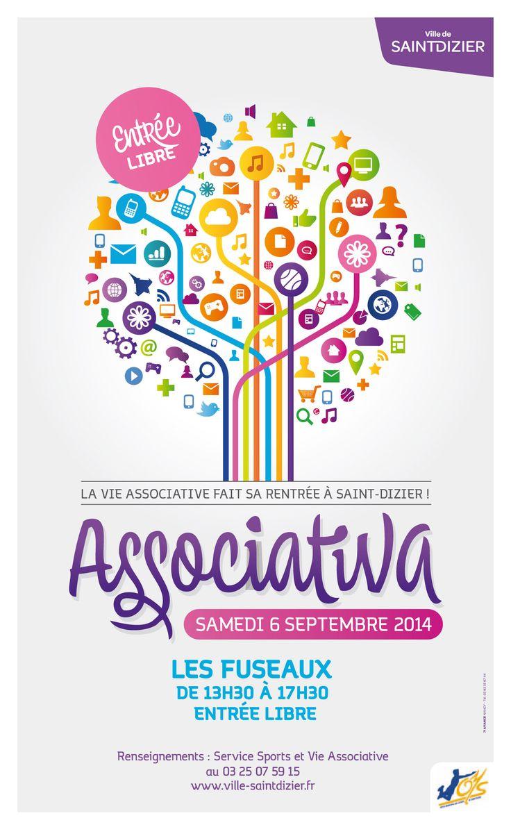 Associativa : la vie associative fait sa rentrée à Saint-Dizier ! Samedi 6 septembre 2014, de 13h30 à 17h30 aux Fuseaux.