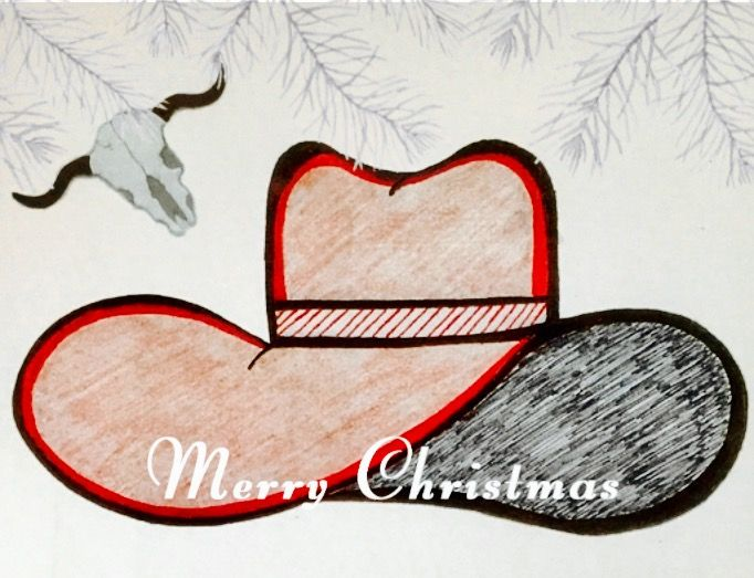"""""""CowTown"""" #MerryChristmasCard #BlankGreetingCards by #MyEscapeArt #WesternThemed"""